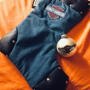 Harley Davidson stocking & ornament